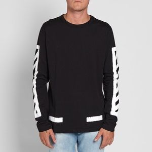 Off-White Long Sleeve Brushed Diagonals